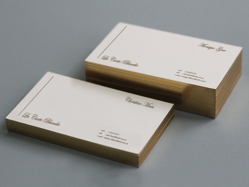 La Carte Blanche Business Cards