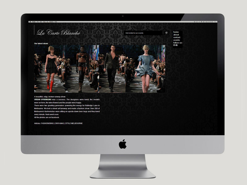 La Carte Blanche Website
