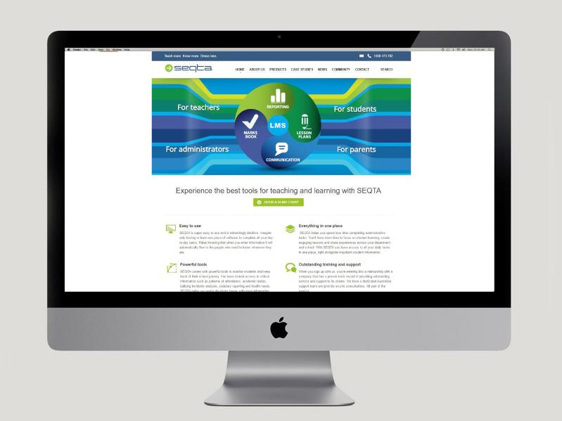 SEQTA Homepage Re-design