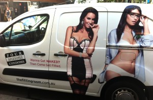 condom fit car ad