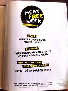 Meat Free Week campiagn