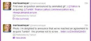 yahoo tumblr marissa mayer tweet