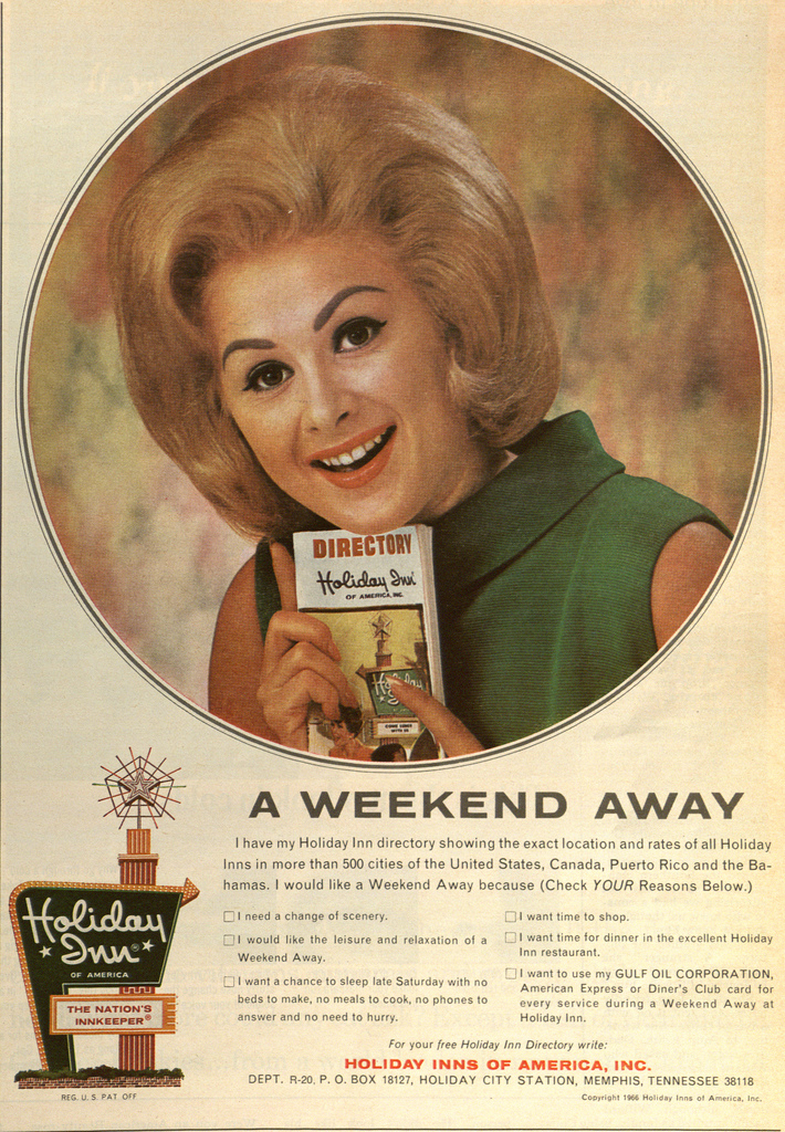 1966 ad for Holiday Inn